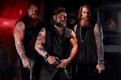Kessler's Crew by Vincent Kamp - Varnished Original Painting on Stretched Canvas